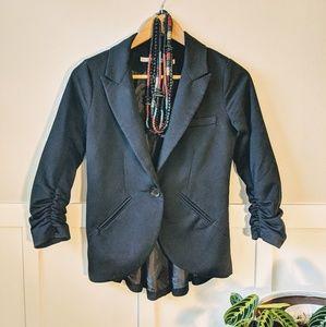 GIBSON Black Blazer With Peplum